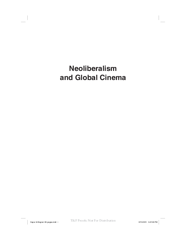PDF) Neoliberalism and Global Cinema: Capital, Culture and Marxist