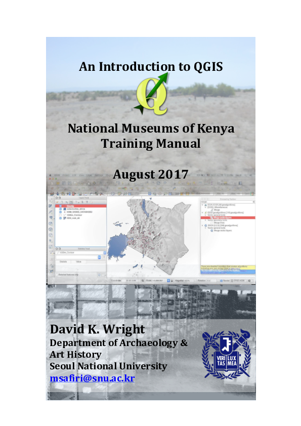 PDF) An Introduction to QGIS: National Museums of Kenya Training