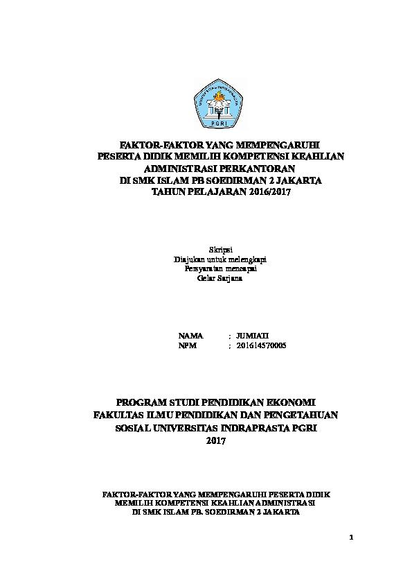 Judul Skripsi Pendidikan Ekonomi Administrasi Perkantoran Ide Judul Skripsi Universitas