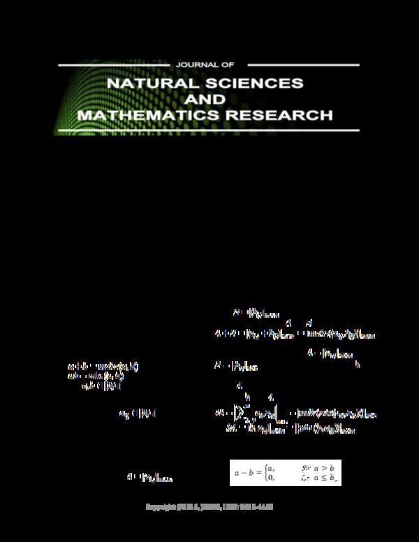 PDF) Eigen Value of Fuzzy Matrices | JNSMR Walisongo