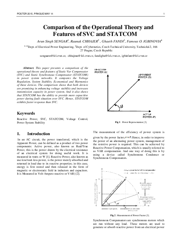 Pdf Comparison Of The Operational Theory And Features Of Svc And Statcom Famous O Igbinovia Phd Academia Edu