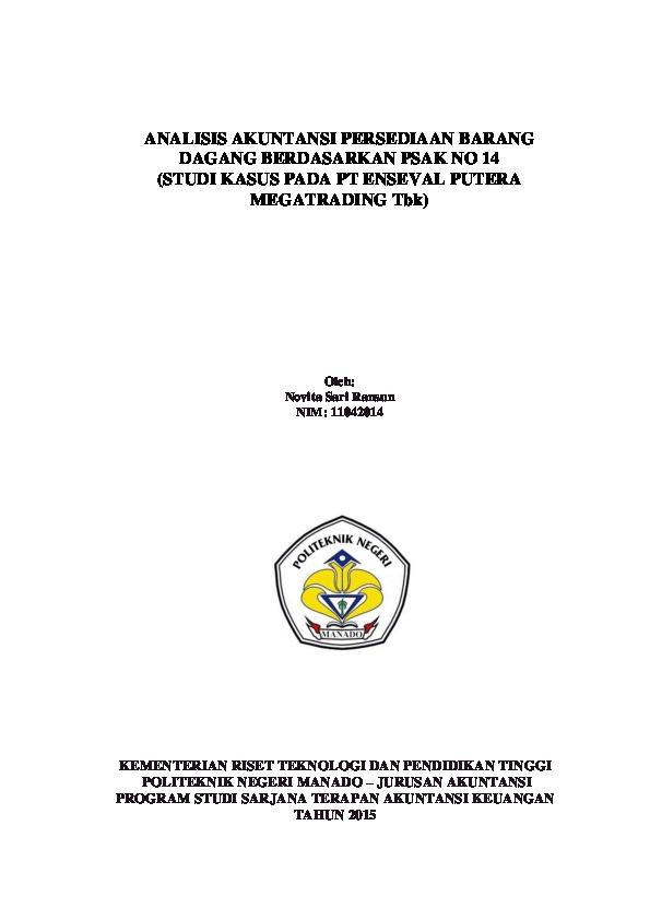 Pdf Analisis Akuntansi Persediaan Barang Dagang Berdasarkan Psak