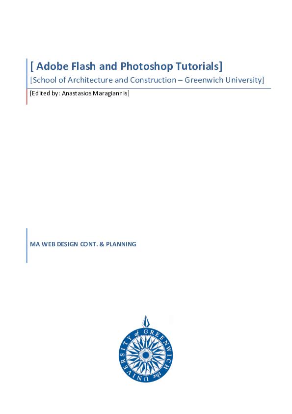 PDF) Adobe Flash and Photoshop Tutorials | sonia henriques
