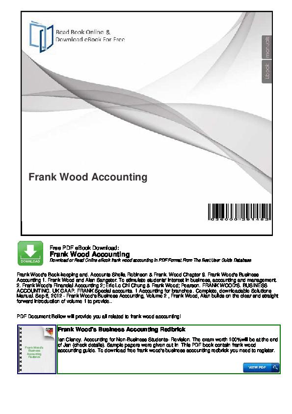 PDF) Frank Wood Accounting | Ahmed Salehe - Academia edu