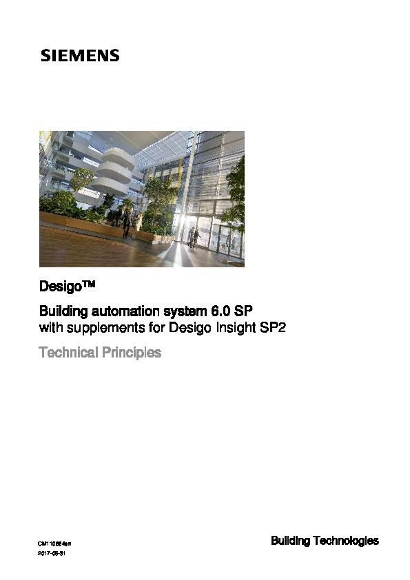 PDF) Desigo™ Building automation system 6 0 SP with