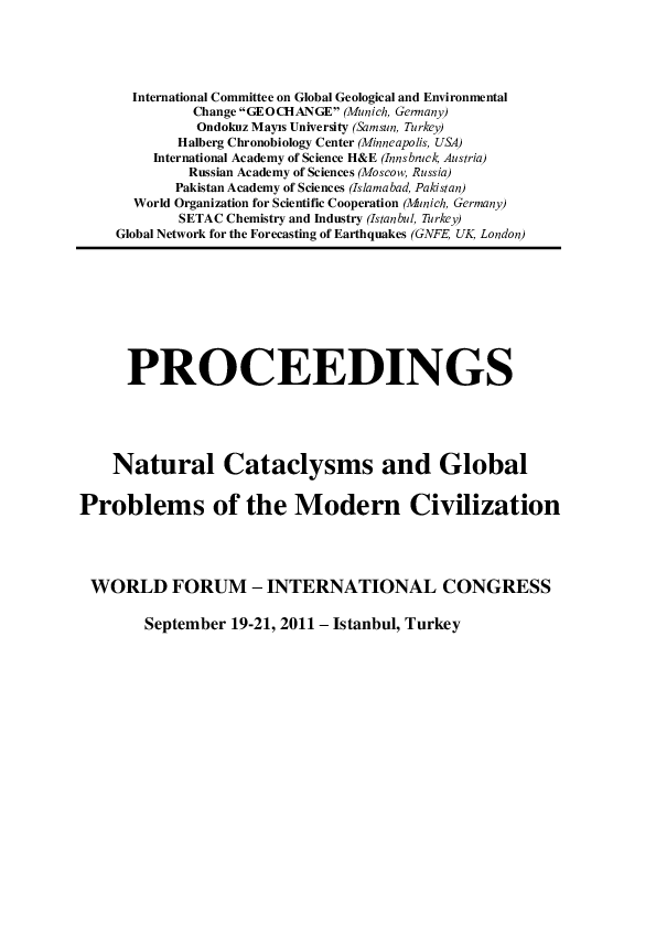 PDF) Natural Cataclysms and Global Problems of the Modern
