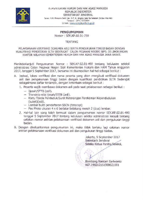 PDF) KEMENTERIAN HUKUM DAN HAKASASI MANUSIA | rizal afif