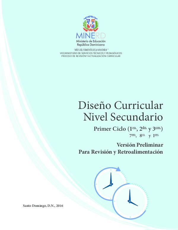 Pdf Diseño Curricular Nivel Secundario Turner Copias
