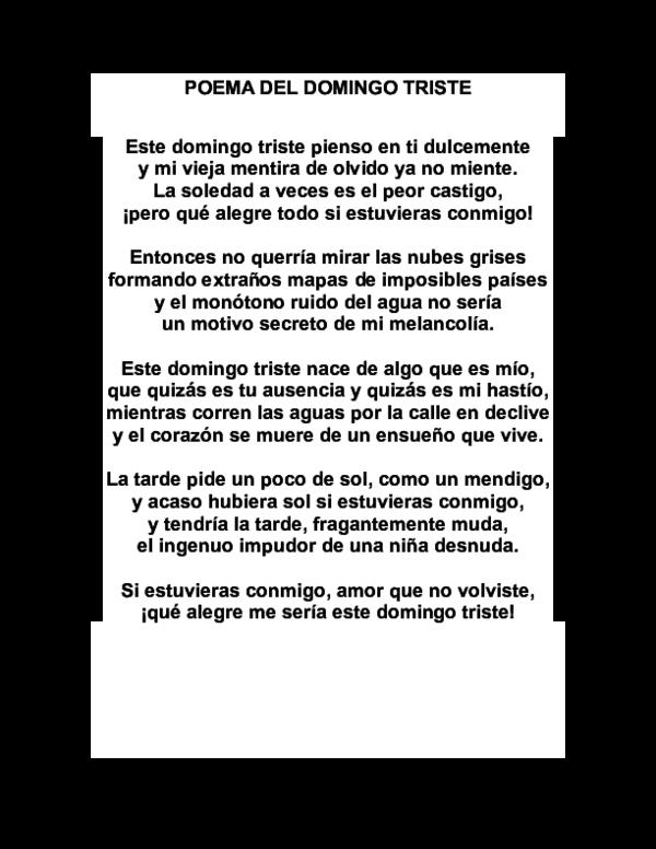 Doc Poema Del Domingo Triste Comercial Prestigio
