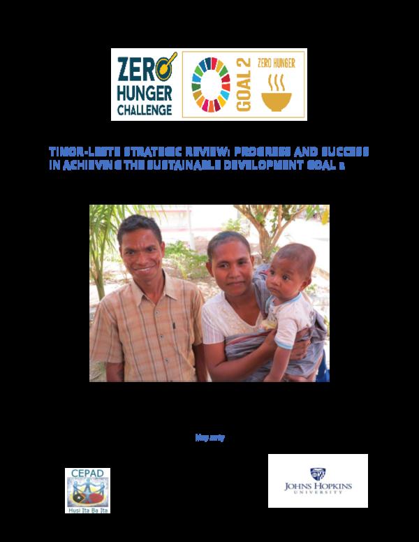 b5e09c0d8c4b PDF) Timor-Leste Strategic Review  Progress And Success In Achieving ...