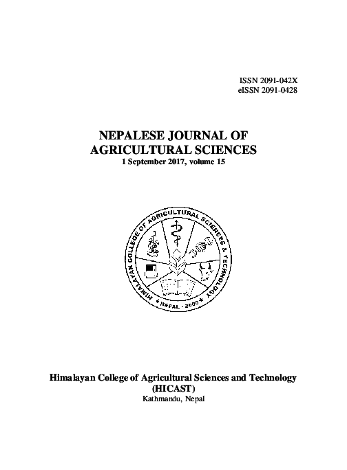 PDF) NEPALESE JOURNAL OF AGRICULTURAL SCIENCES | Bidur P ... on