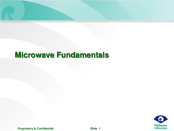 Ppt Microwave Fundamentals