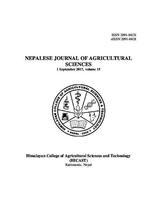 PDF) NJAS_2017_vol_15-Final.pdf | Binayak P Rajbhandari and Bidur ...