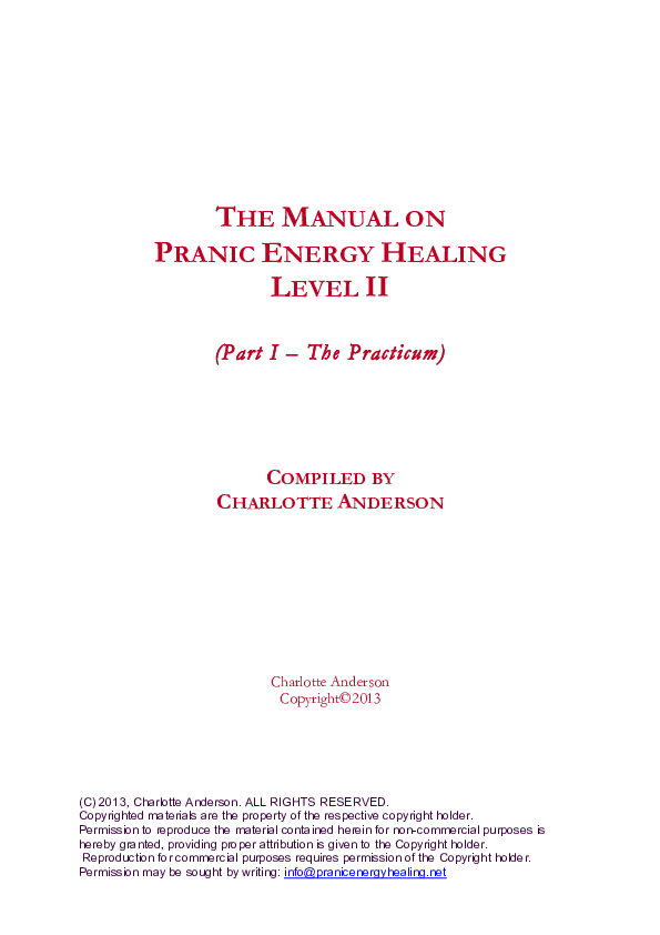Advanced Pranic Healing Pdf