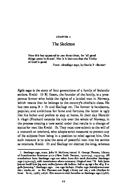 PDF) Torfi H. Tulinius Enigma of Egill Chapter 1 The Skeleton.pdf ...