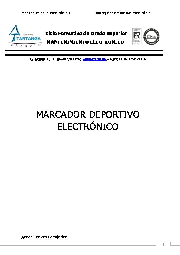 Pdf Ciclo Formativo De Grado Superior Mantenimiento