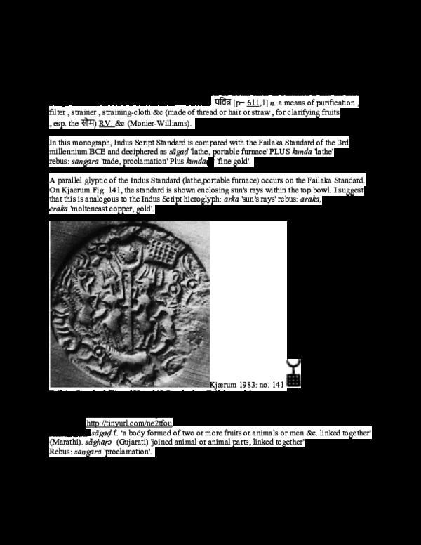 PDF) Indus Script Standard on Arabian Gulf glyptic art