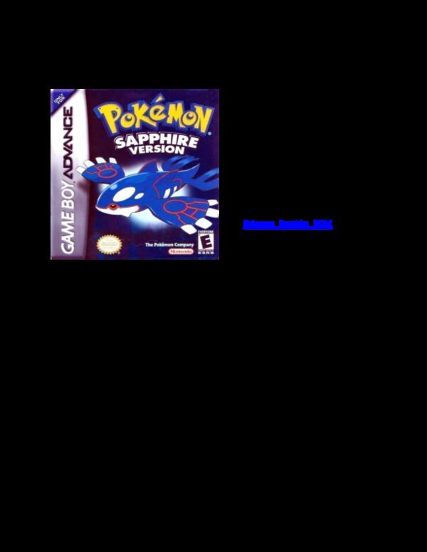 PDF) Pokemon Sapphire Rom   rajakala654 rajakala654 - Academia edu