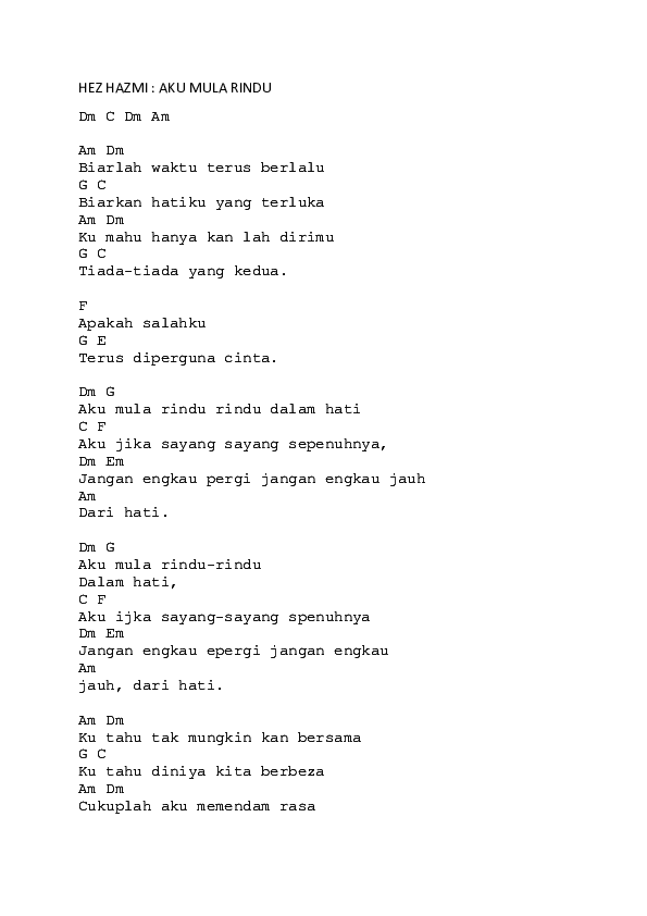 Doc Hez Hazmi Aku Mula Rindu Muhammad Nasrullah Academia Edu