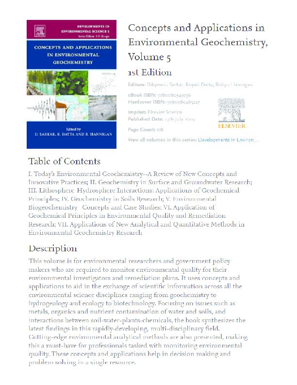 PDF) Environmental Geochemistry   eron costa - Academia edu