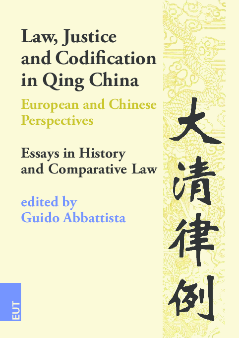 PDF) Law, Justice and Codification in Qing China European