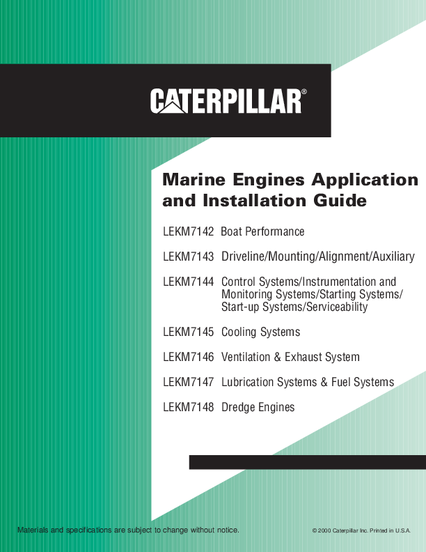 PDF) Marine Engines Application and Installation Guide