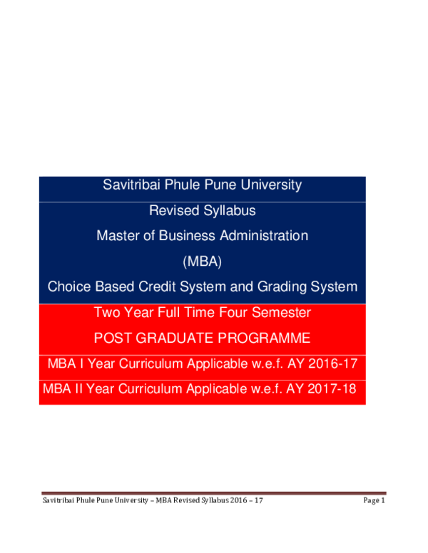 PDF) MBA NEW Syllabus | Yash Goyal - Academia edu