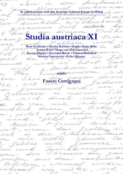 In Collaboration With The Austrian Cultural Forum In Milan Studia