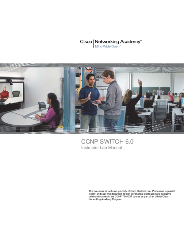 PDF) CCNP SWITCH 6 0 Instructor Lab Manual Chapter 1 Lab 1-1
