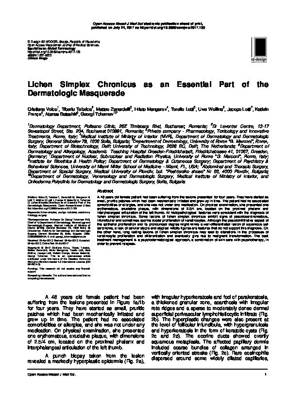 Lichen Simplex Chronicus as an Essential Part of the