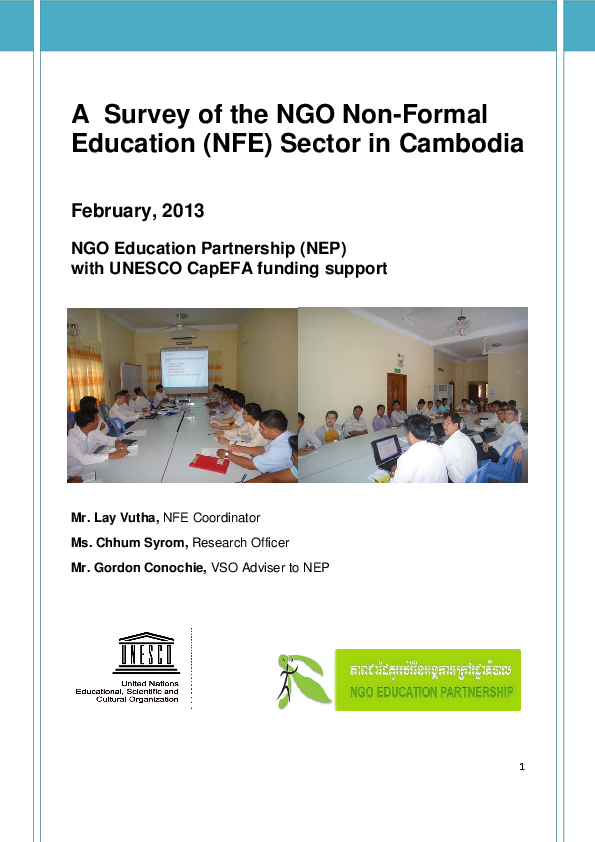 PDF) A Survey of Non-Formal Education NGO Sector in Cambodia.pdf ...
