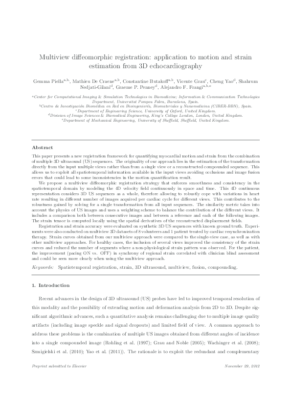 PDF) Multiview diffeomorphic registration: Application to