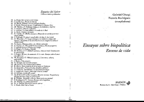 PDF) Foucault Michel-ensayos-sobre-biopolitica.pdf   BIBLIOTECA ...