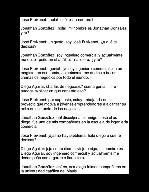 Doc Dialogo Ingles José Freixenet Academia Edu