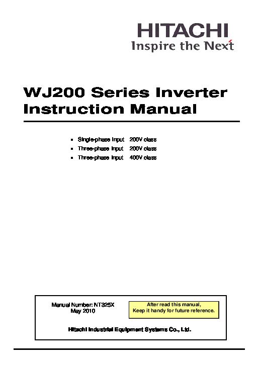 PDF) WJ200 Series Inverter Instruction Manual | Dinh Bui - Academia edu
