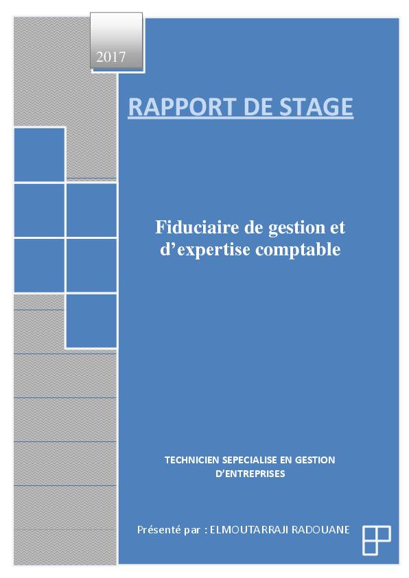 TÉLÉCHARGER RAPPORT DE STAGE FIDUCIAIRE GRATUIT