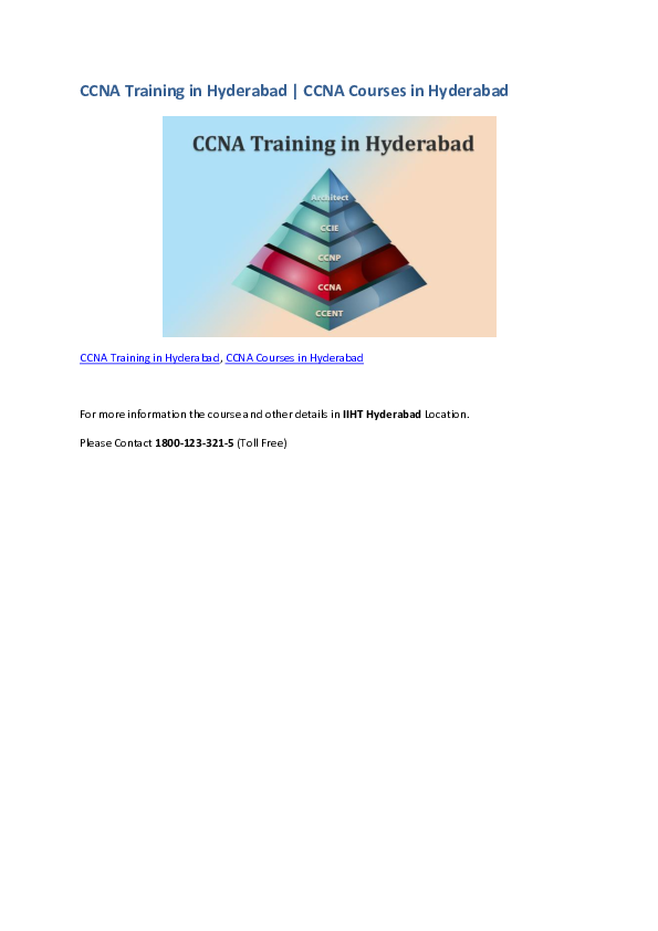 PDF) CCNA Training in Hyderabad | CCNA Courses in Hyderabad