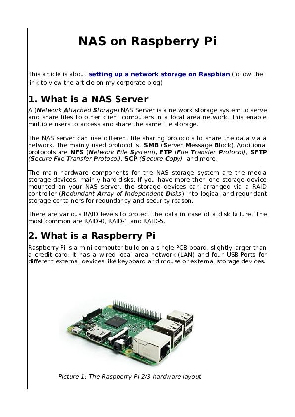 Raspberry Pi 4 Nas Performance