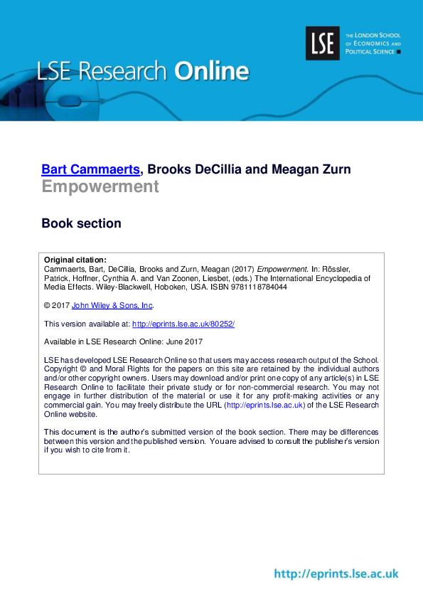 PDF) Empowerment Book section | Brooks DeCillia - Academia edu