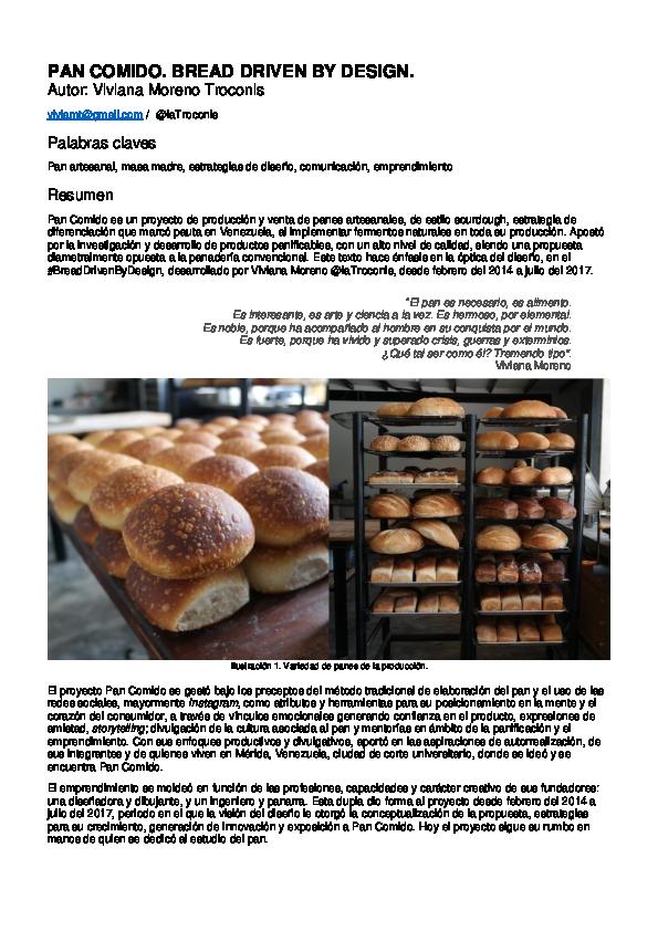 PDF) Bread Driven by Design  Pan Artesanal desde la visión