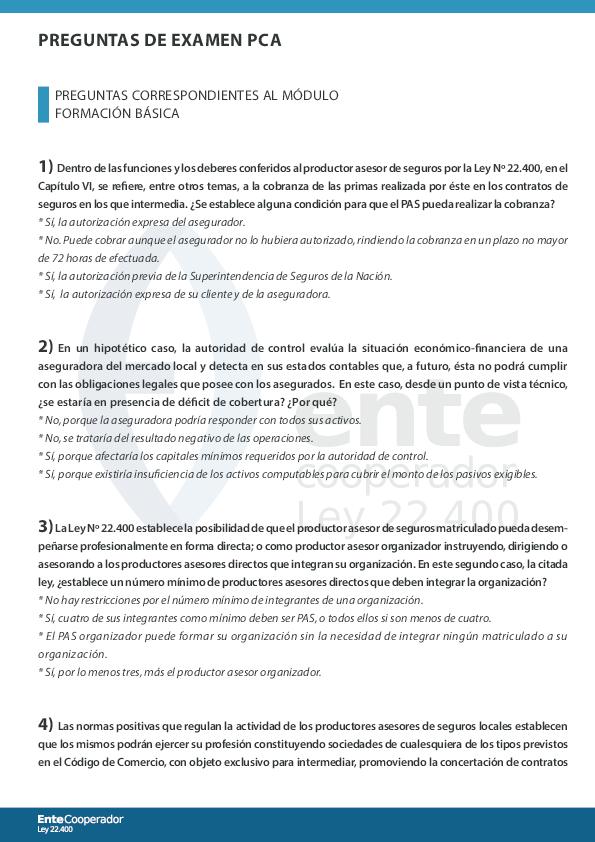 Pdf Preguntas De Examen Pca Lara Navatta Academia Edu