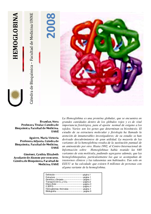 Pdf Hemoglobina Iserch Cruz Academia Edu