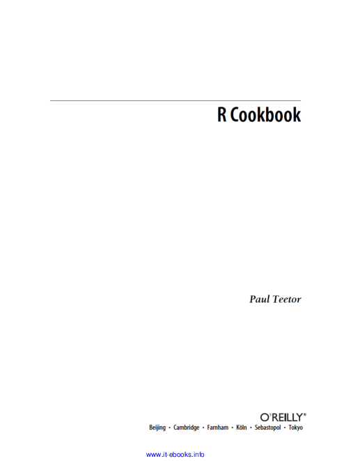 R And Statistics With R Cookbook Means Overview Aditya Nambyar