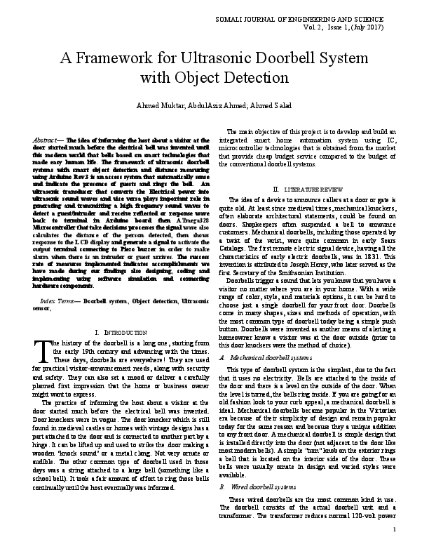 doorbell journal pdf abdulaziz ahmed siyad academia eduDiagram Furthermore Object Detection Using Automatic Door Bell #21