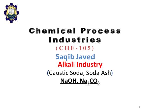 PDF) Alkali Industry (Caustic+Soda Ash) to class | Muhammad Hammad