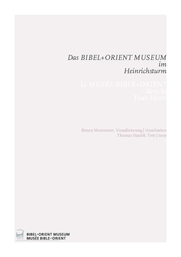 Pdf Das Bibelorient Museum Im Heinrichsturm Le Musee