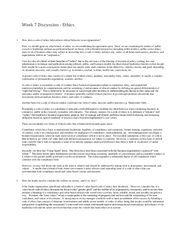 DOC) POL 5423 week 7 discussion docx | Jonathan Van Joseph