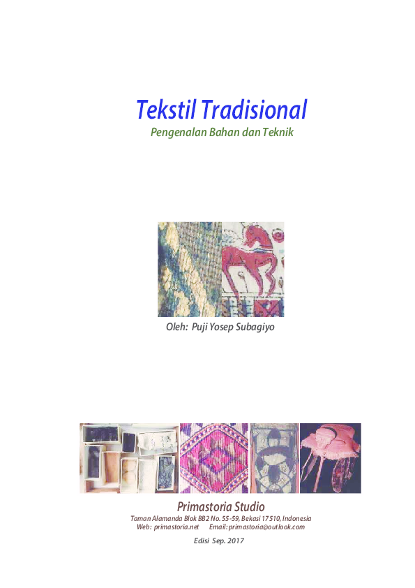 06a51032710d5 PDF) Tekstil Tradisional 2017 | Puji Yosep Subagiyo - Academia.edu
