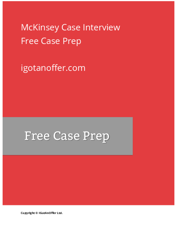 PDF) McKinsey Case Interview | HM Lau - Academia edu