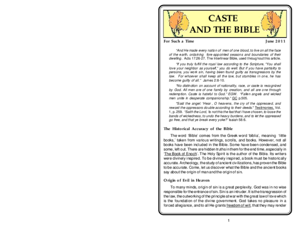 PDF) CASTE AND THE BIBLE | Ellen John - Academia edu